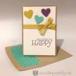 A Happy Stampin' Up! Note Card