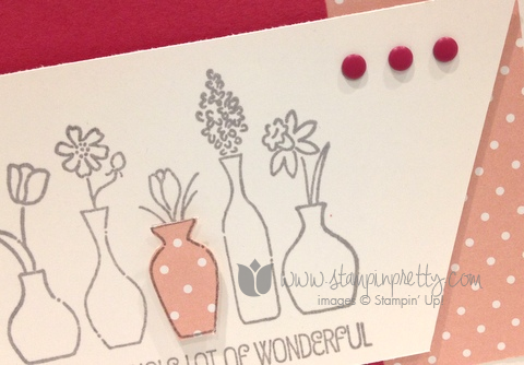 Stampin up stamp it pretty mary fish vivid vases handmade card ideas free occasions catalogs