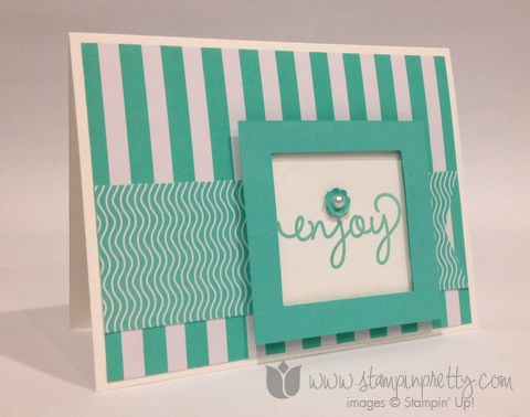 Stampin up stamp it pretty mary fish fresh prints simple celebrate handmade cards idea
