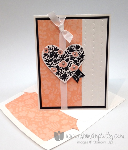 Stampin up stamp it pretty mary fish flowerfull hearts valentines day card idea banner blast punch saleabration