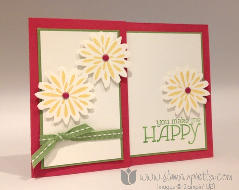 Stampin up stamp it stamping mary fish pretty simple stems secret garden framelits dies big shot card