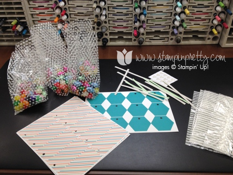 Stampin up stamp it stamping pretty saleabration celebration twisty ties treat bags cello ideas