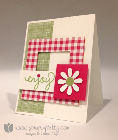Stampin up stamping stamps it pretty mary fish mojo monday gingham garden simple celebrate