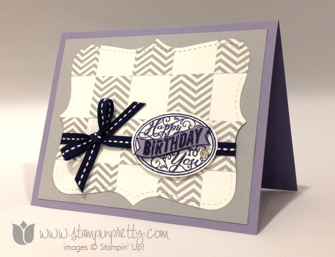 Stampin up stamp it up stamping mary fish pretty best of birthdays card idea masculine oval punch