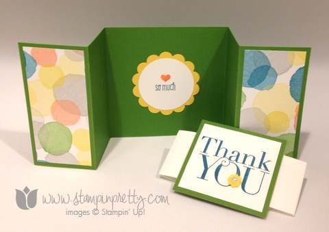 Stampin Up Stamp It Up Pretty Mary Fish Another Thank You Card Ideas  Watercolor Wonder Wonder