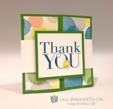 Stampin up stamp it up pretty mary fish another thank you cards idea watercolor wonder wonder zfold