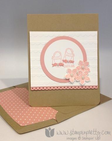 Stampin up stamp it up envelope liner framelits die big shot baby weve grown card