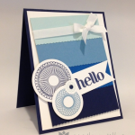 Blue Ombr? Hello Card