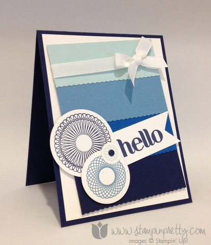 Stampin up stamp it stamping pretty mary fish demonstrator blog spiral spins mojo monday card ideas