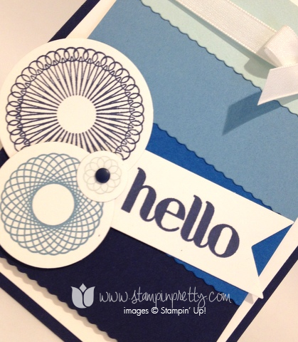 Stampin up stamps it stamping pretty mary fish demonstrator blog spiral spin mojo monday card idea
