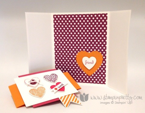 Stampin up stamping stamp it pretty hearts a flutter framelits dies fabulous phrases card ideas fold gate heart blog