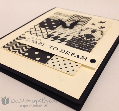 Stampin up stamping stamp it pretty modern medley loving thoughts set card idea square punch quilt