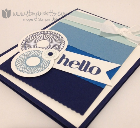 Stampin up stamp it stamping pretty mary fish demonstrator blogs spiral spin mojo monday card idea