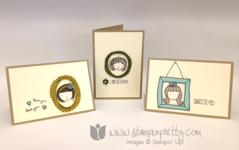 Stampin up stamping stamp it pretty mary fish sweetie pie frames card ideas demonstrators blog