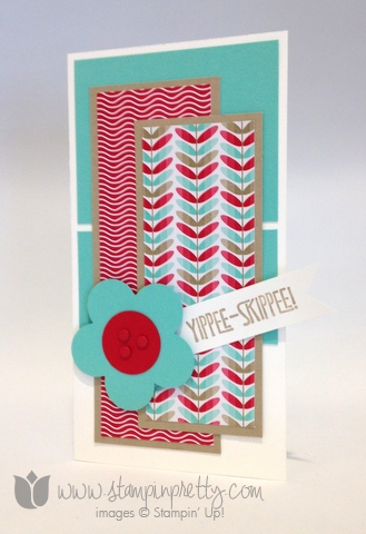 Stampin up stamping stamp it mary fish pretty yippee skippee fancy flower punch demonstrator blog card ideas