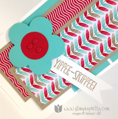 Stampin up stamping stamp it mary fish pretty yippee skippee fancy flower punch demonstrator blog cards idea