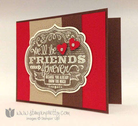 Stampin up stamping stamp it pretty blog card demonstrator ideas friend who know paper piercing labels framelits die