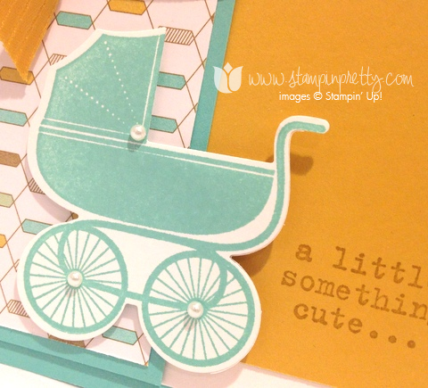 Stampin up stamping stamp it demonstrators blog baby card idea something for to say baby's first framelits