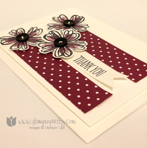 Stampin up stamping stamp it blog demonstrator thank you card ideas flowers shop pansy punch