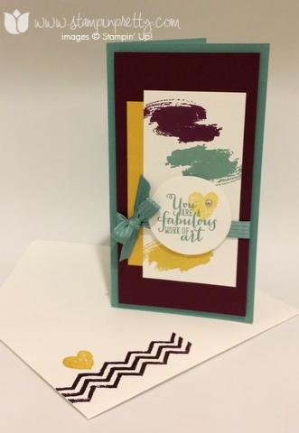 Stampin up stampinup stamp it pretty demonstrator blog work of art set card idea mojo monday