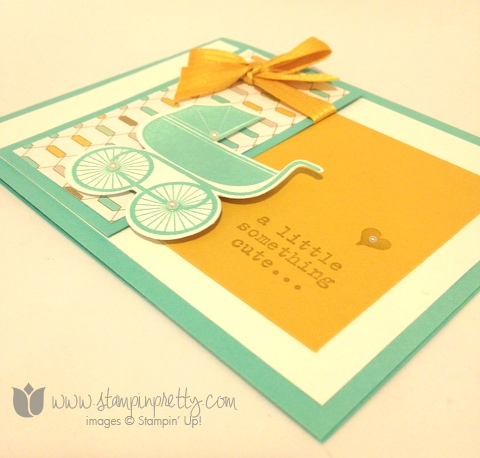 Stampin up stamping stamps it demonstrator blog baby card idea something for to say baby's first framelits