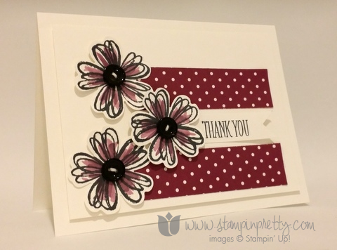 Stampin up stamping stamp it blog demonstrator thank you card ideas flower shop pansy punch