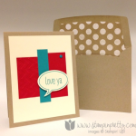 Clean and Simple Love Ya Card for PPA 202