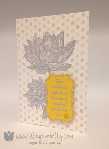 Stampin up stamping stamp it demonstrator blog card ideas pretty people like you decorative label punch