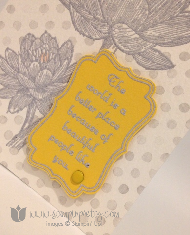 Stampin up stamping stamp it demonstrator blog card idea pretty people like you decorative label punch