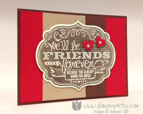 Stampin up stamping stamp it pretty blog card demonstrator ideas friends who know paper piercing labels framelits dies