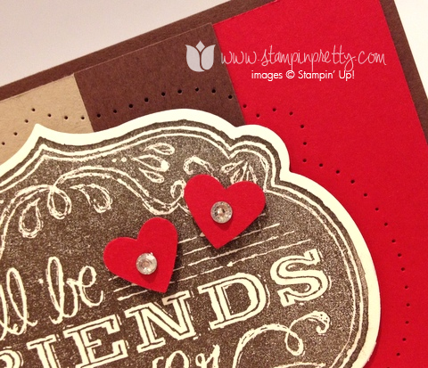 Stampin up stamping stamp it pretty blog card demonstrator ideas friends who know paper piercing labels framelits die