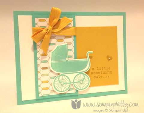 Stampin up stamping stamp it demonstrator blog baby card ideas something for to say baby's first framelits