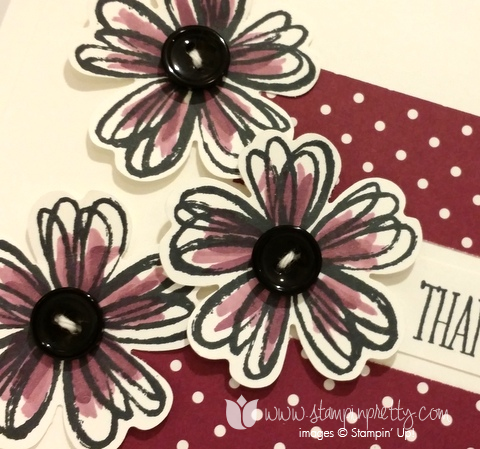 Stampin up stamping stamp it blog demonstrator thank you card ideas flower shops pansy punch