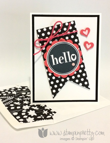 Stampin up stamping pretty demonstrator blog mary fish #hello stamp it free new catalog card ideas