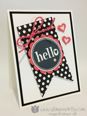 Stampin up stamping pretty demonstrator blog mary fish #hello stamp it free new catalog card idea
