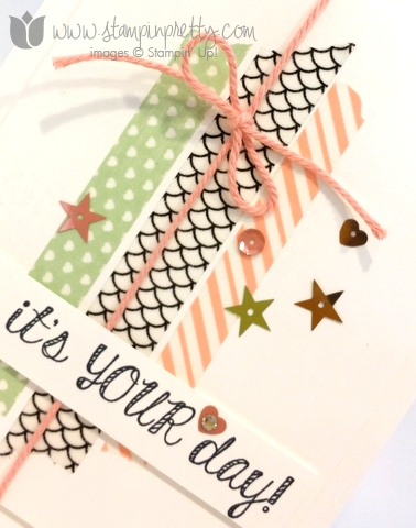 Stampin up stamping stamp it fabulous four birthday card ideas washi tape demonstrator blogs