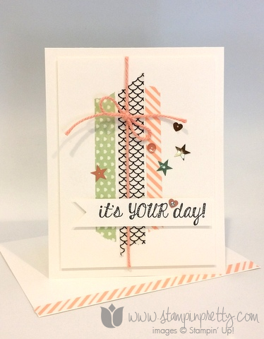 Stampin up stamping stamp it fabulous four birthday card ideas washi tape demonstrator blog