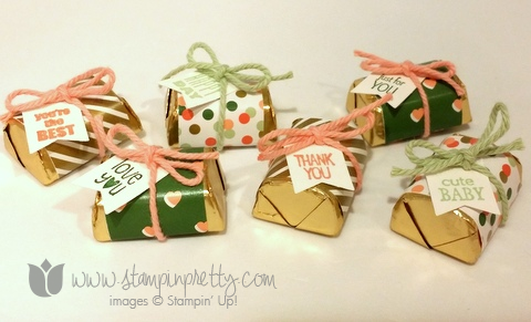 Stampin up stamping stamp it pretty hershey nuggets gold soiree diy party favor idea banner banter punch blog