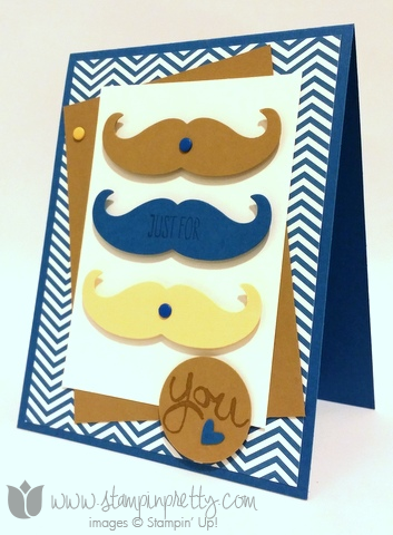 Stampin up stamping stamp it pretty work of art mustache framelits die fathers day masculine card idea blogs