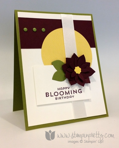 Happy Blooming Birthday Card Stampin Pretty
