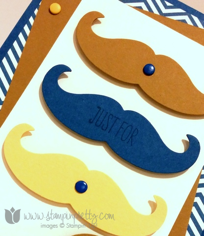 Stampin up stamping stamp it pretty work of art mustache framelits die fathers day masculine card ideas blogs