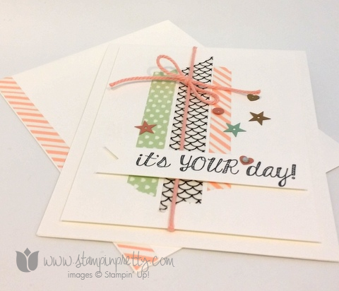 Stampin up stamping stamp it fabulous four birthday card idea washi tape demonstrator blog