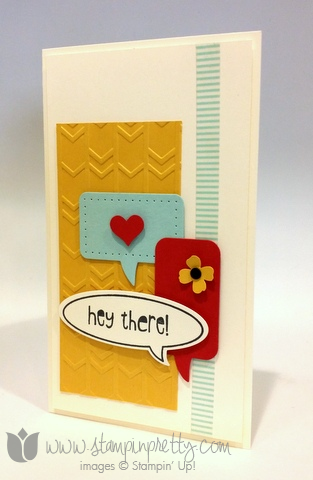 Stampin up stamping pretty word bubbles framelits dies just sayin saying stamp set demonstrator blog mojo monday