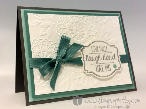 Stampin up stamping pretty stamp oh my goodies demonstrator blog card idea mary fish catalog 1