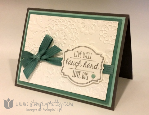 Stampin up stamping pretty stamp oh my goodies demonstrator blog card idea mary fish catalog 2