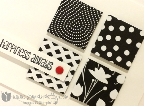 Stampin up stamping pretty demonstrator blog and many more stamp set back to black simple card idea
