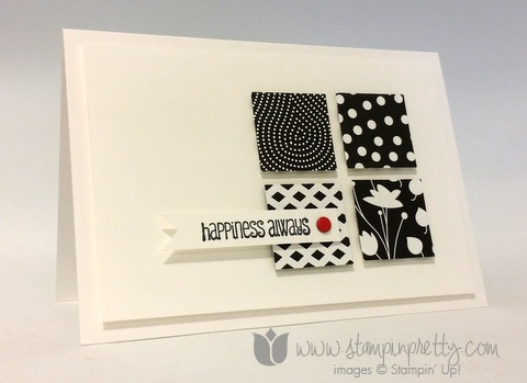 Stampin up stamping pretty demonstrator blog and many more stamp set back to black simple cards idea