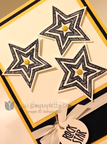 Stampin up stamping up star framelits dies be the stamp set card idea demonstrator blog
