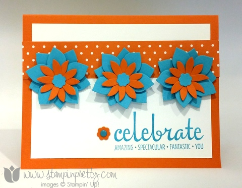 Stampin up stamping pretty demonstrator blog fabulous four stamp set card ideas flower fair framelits die