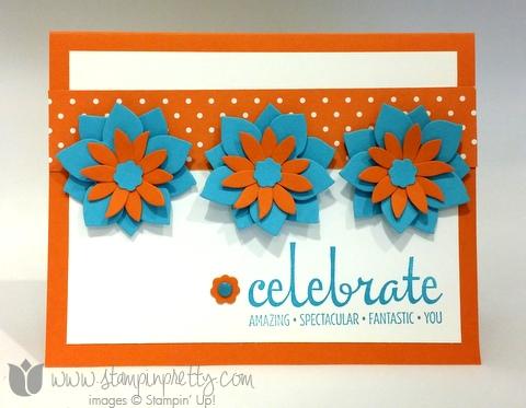 Stampin up stamping pretty demonstrator blog fabulous four stamp set card ideas flower fair framelits die